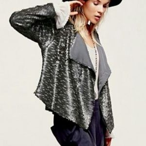 Free People Drippy Sequin Jacket